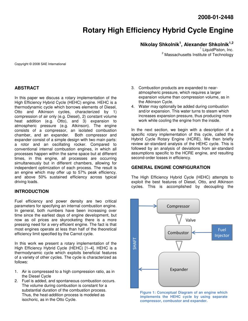 medium resolution of  pdf high efficiency hybrid cycle engine