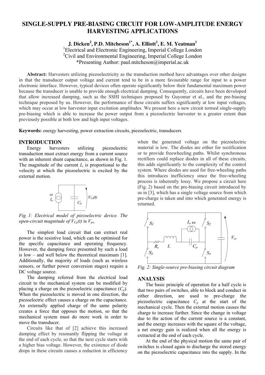 hight resolution of  pdf single supply pre biasing circuit for low amplitude energy harvesting applications