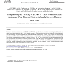 pdf reengineering the teaching of sap scm how to make students understand what they are clicking in supply network planning [ 850 x 1160 Pixel ]