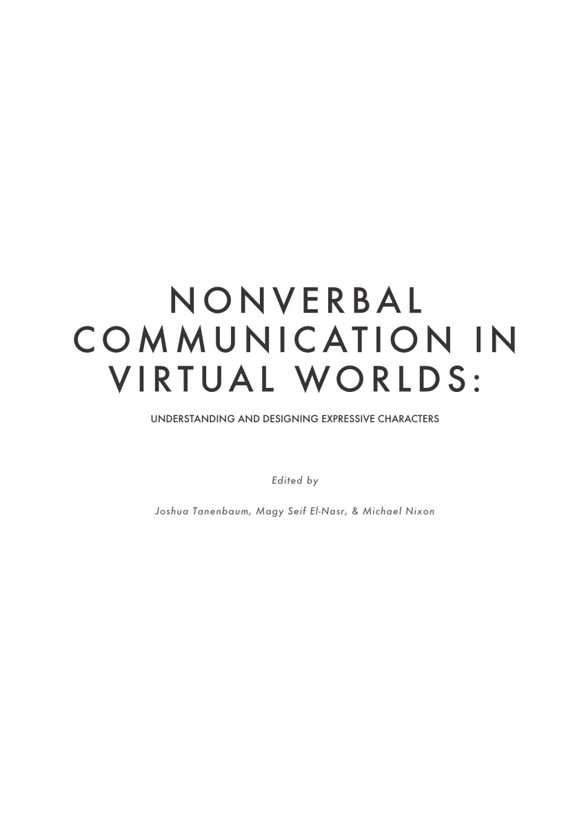 (PDF) TimeTraveller™: First Nations Nonverbal