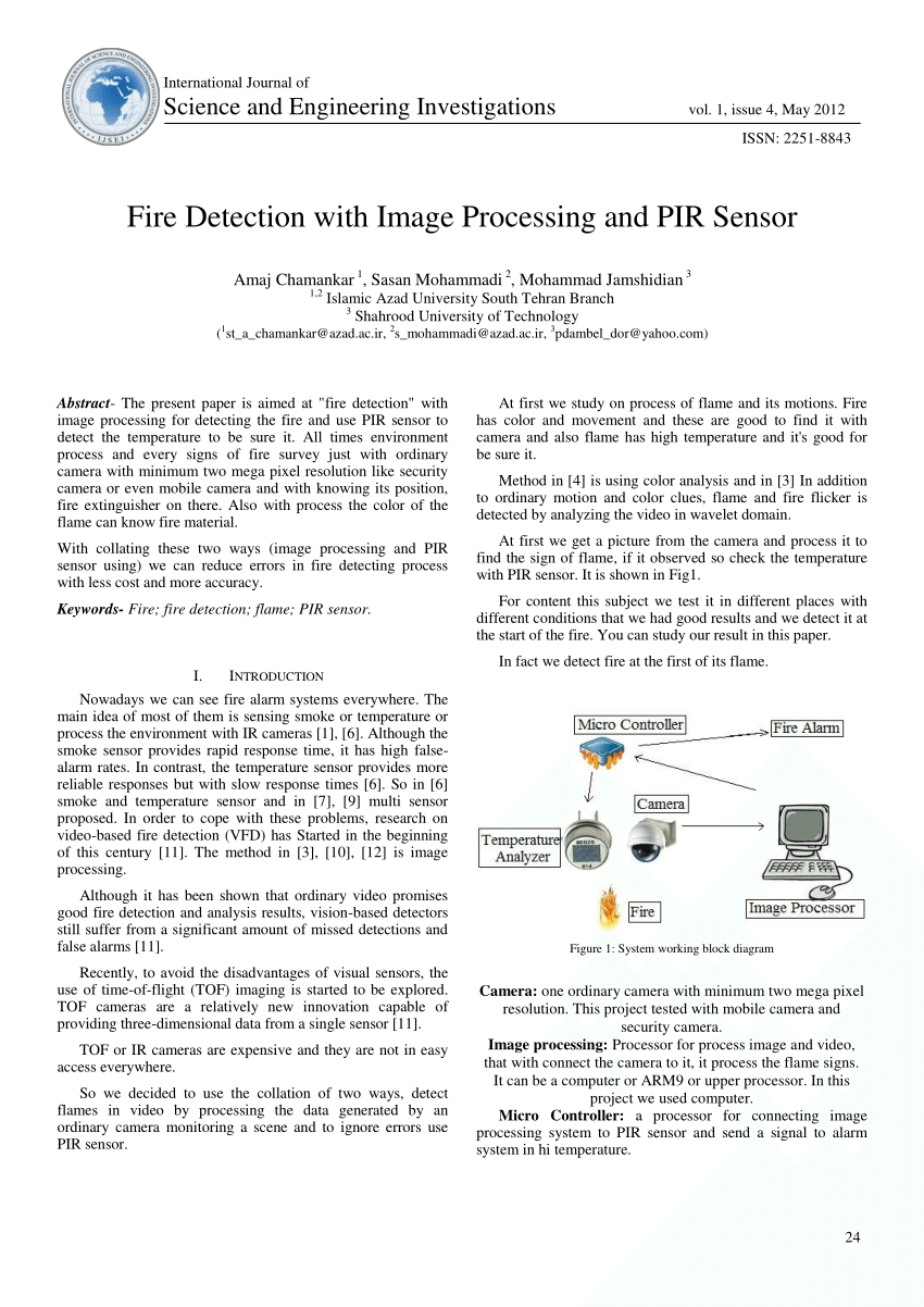 hight resolution of  pdf fire detection with image processing and pir sensor