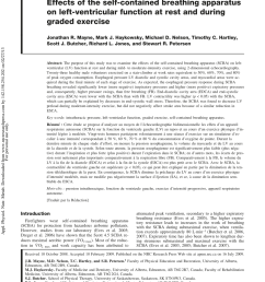 pdf effects of the self contained breathing apparatus on left ventricular function at rest and during graded exercise [ 850 x 1100 Pixel ]