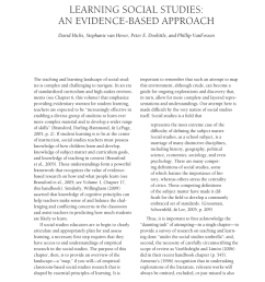 PDF) Learning Social Studies: An Evidence-based Approach [ 1100 x 850 Pixel ]