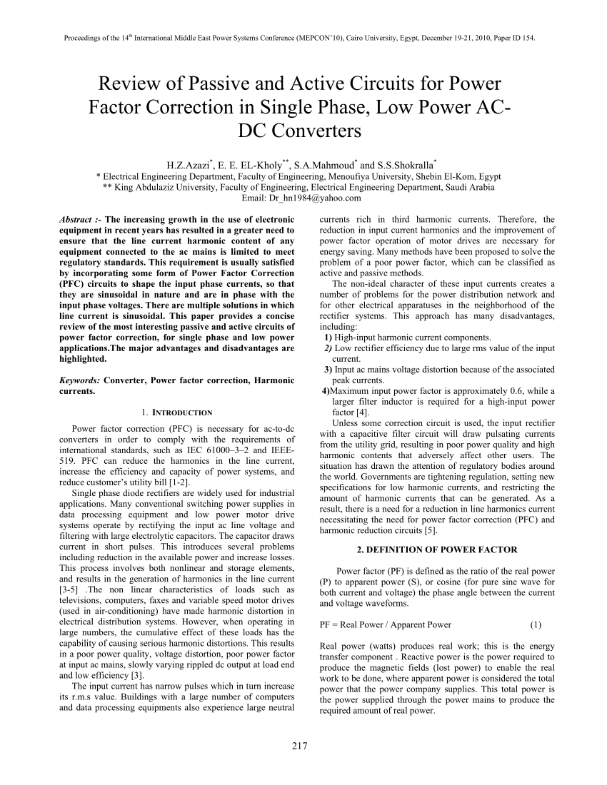 hight resolution of  pdf review of passive and active circuits for power factor correction in single phase low power ac dc converters
