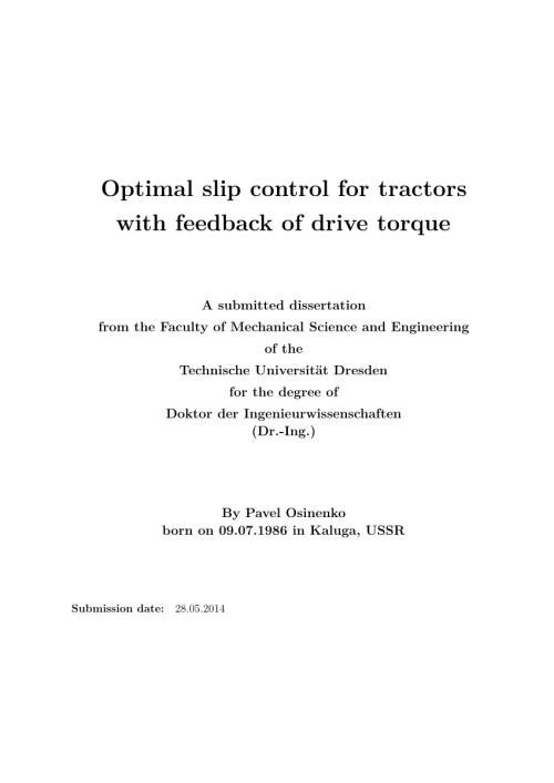 small resolution of  pdf optimal slip control for tractors with feedback of drive torque