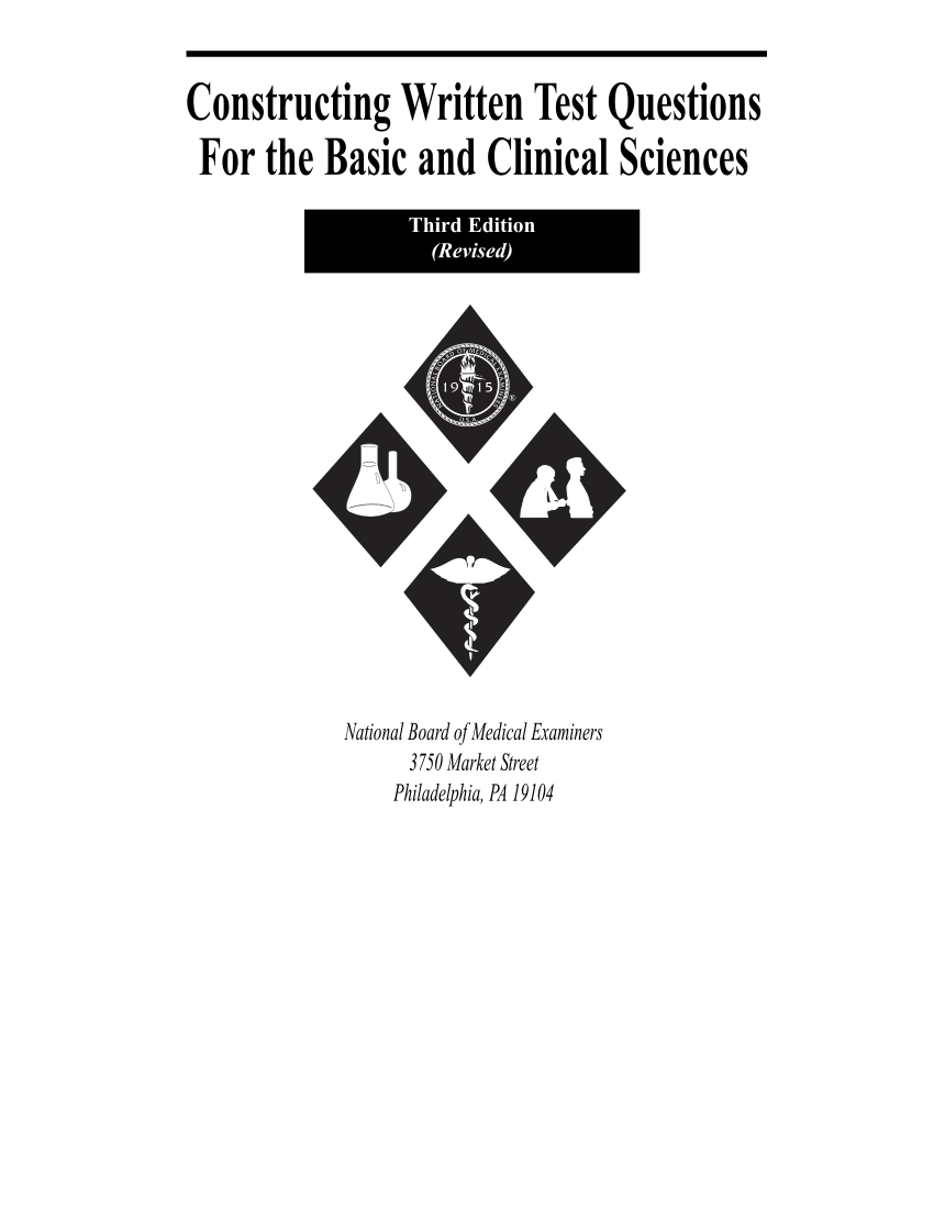 (PDF) Use of the NBME Comprehensive Basic Science
