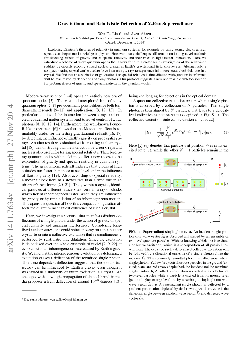 (PDF) Gravitational and Relativistic Deflection of X-Ray