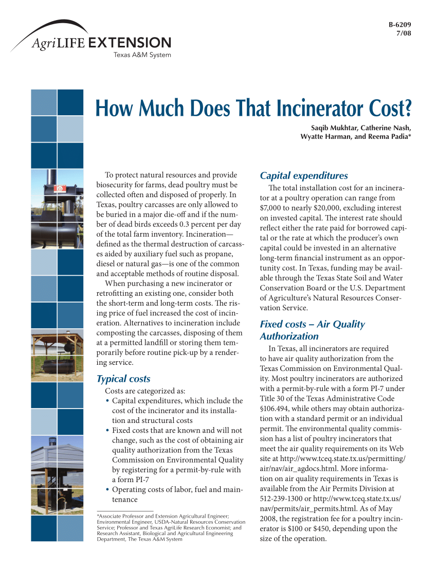 PDF How Much Does That Incinerator Cost