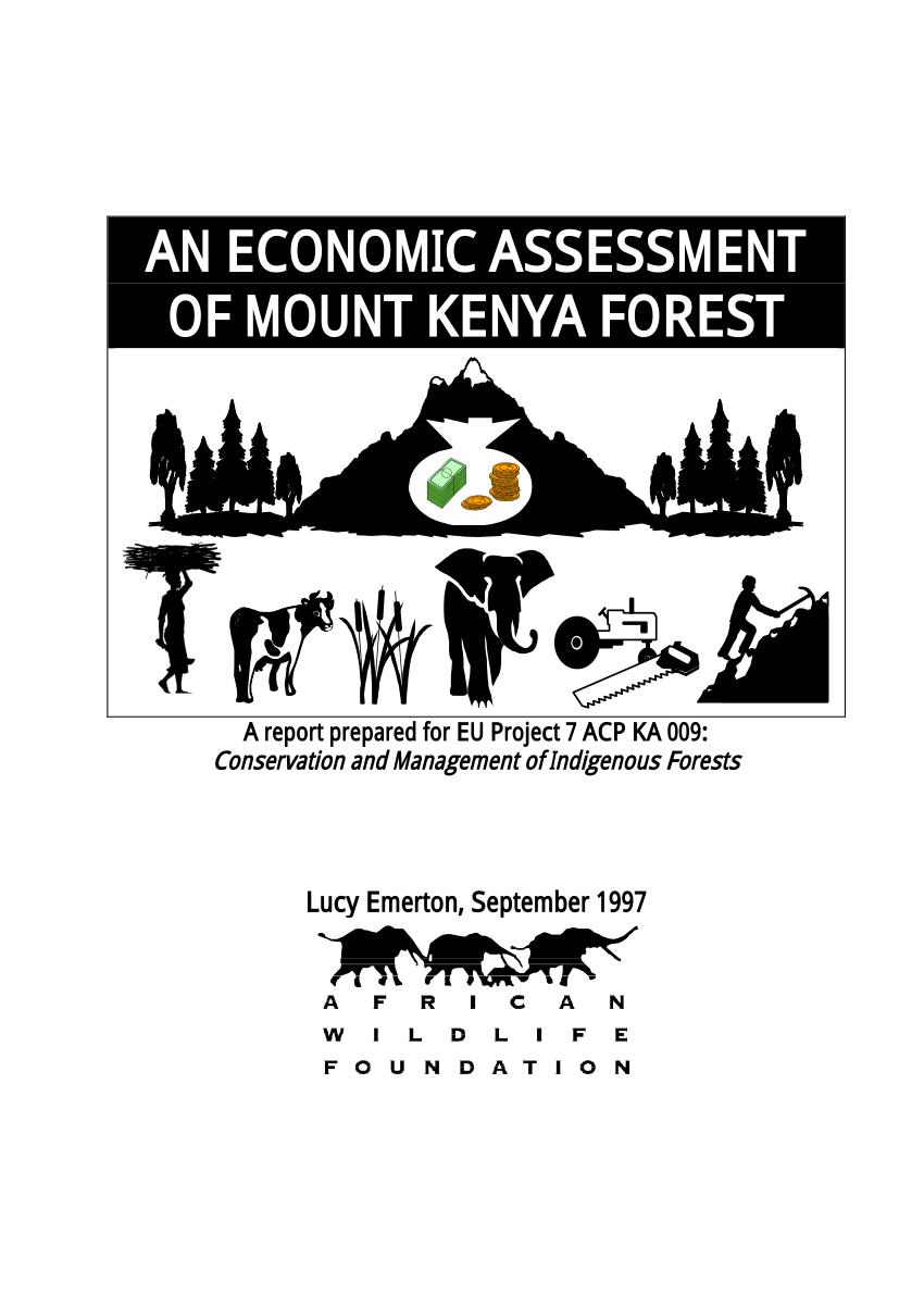(PDF) An Economic Assessment of Mount Kenya Forest