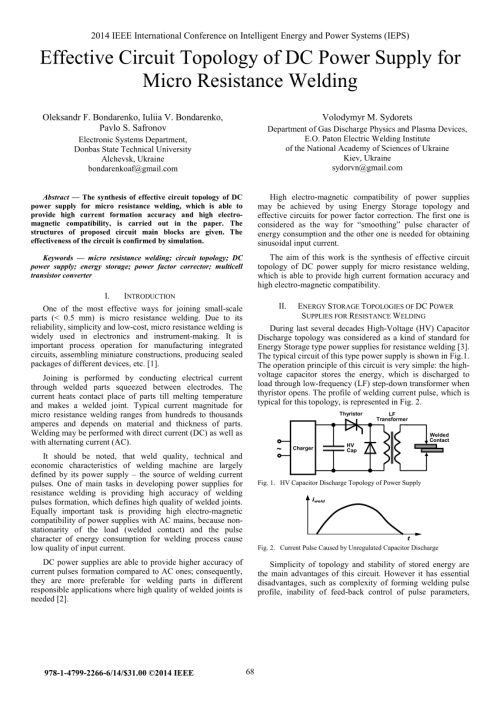 small resolution of  pdf effective circuit topology of dc power supply for micro resistance welding