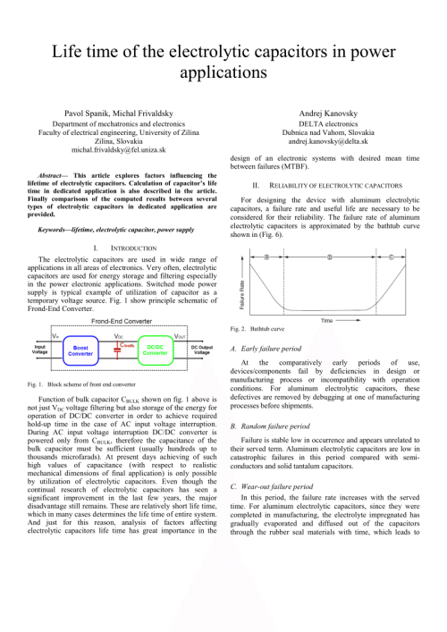 small resolution of  pdf life time of the electrolytic capacitors in power applications