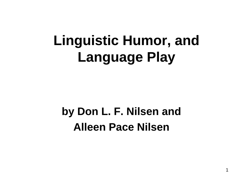 (PDF) Language Play: An Introduction to Linguistics