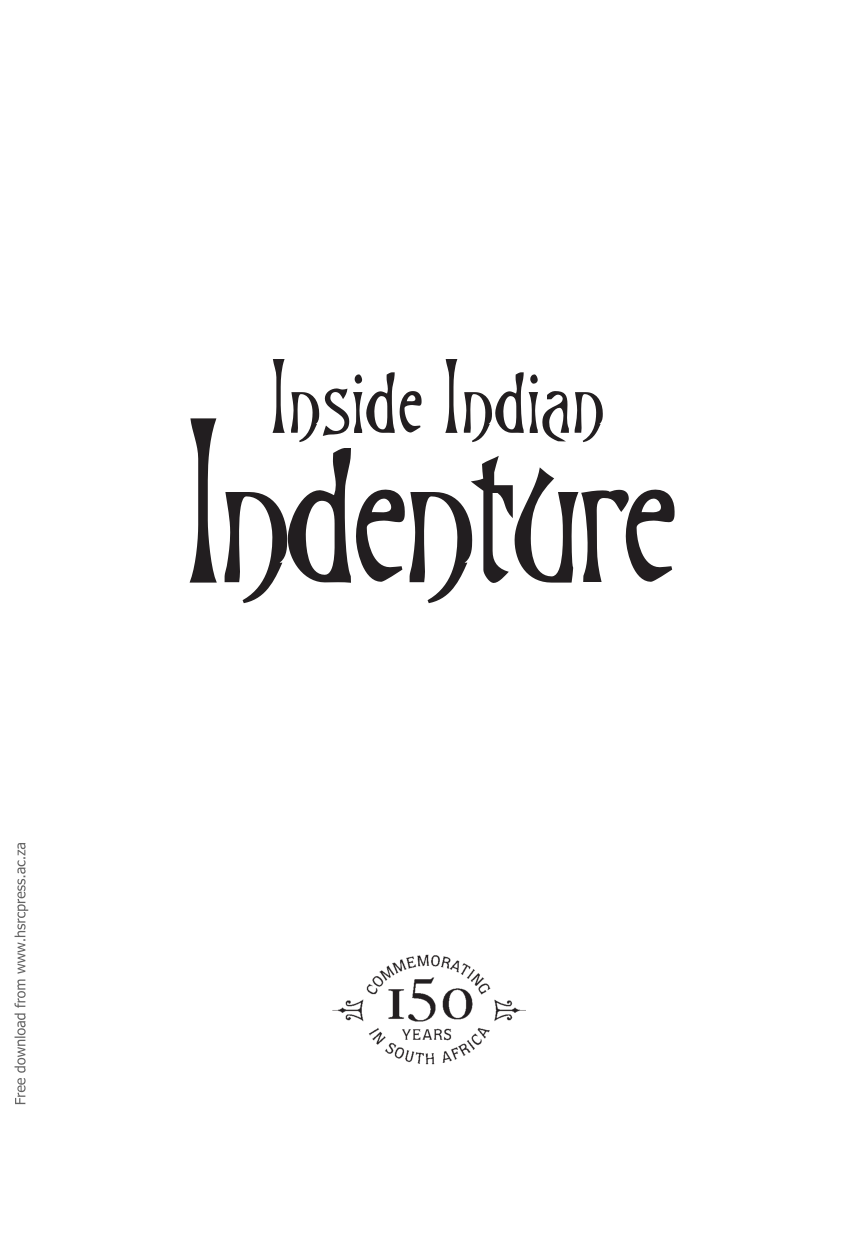 (PDF) Inside Indian Indenture. A South African Story, 1860