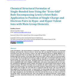 pdf chemical structural formulas of single bonded ions using the even odd rule encompassing lewis s octet rule application to position of single charge  [ 850 x 1155 Pixel ]