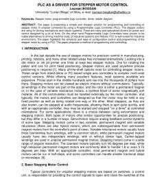 pdf plc as a driver for stepper motor control [ 850 x 1100 Pixel ]