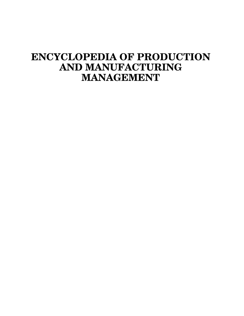 medium resolution of  pdf encyclopedia of production and manufacturing management