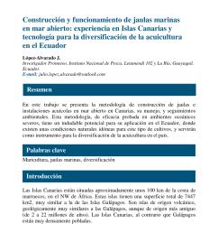 pdf manual de construcci n y manejo de jaulas flotantes para la maricultura del ecuador [ 850 x 1289 Pixel ]