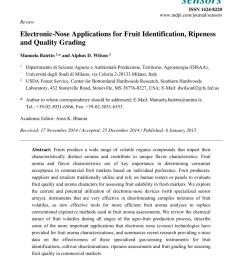 pdf evaluation of fruit ripeness using electronic nose [ 850 x 1203 Pixel ]