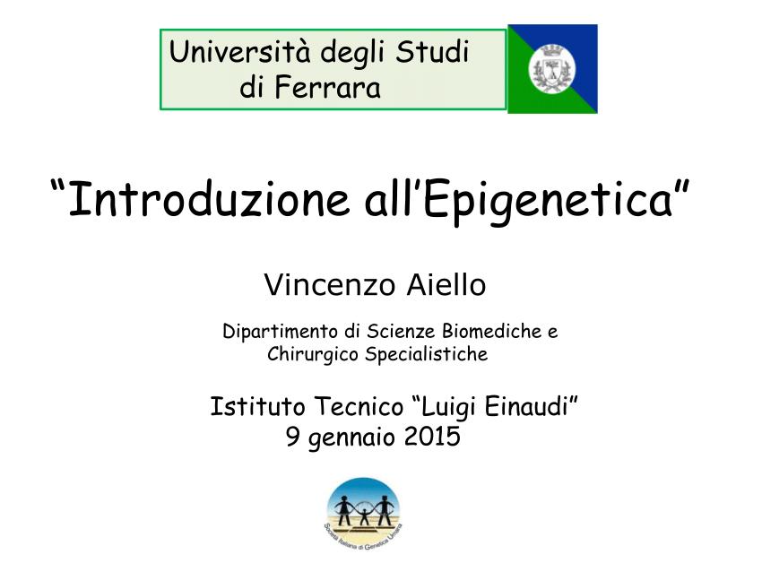 PDF Introduzione allEpigenetica