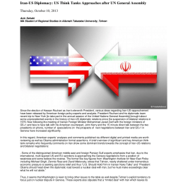 pdf iran us diplomacy us think tanks approaches after un general assembly [ 850 x 1203 Pixel ]