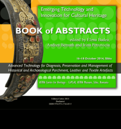 pdf book of abstracts of the 3rd international seminar and workshop on emerging technology and innovation for cultural heritage advanced technology for  [ 850 x 1202 Pixel ]