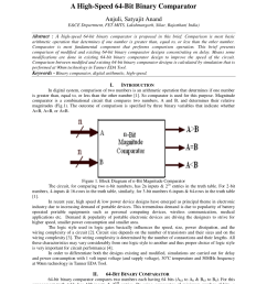 pdf area and power efficient 4 bit comparator design by using 1 bit full adder module [ 850 x 1202 Pixel ]
