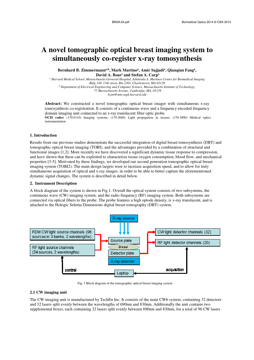hight resolution of combined x ray and optical imaging system the rf imaging system is download scientific diagram