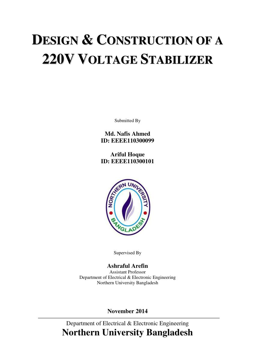 hight resolution of  pdf design construction of a 220v voltage stabilizer