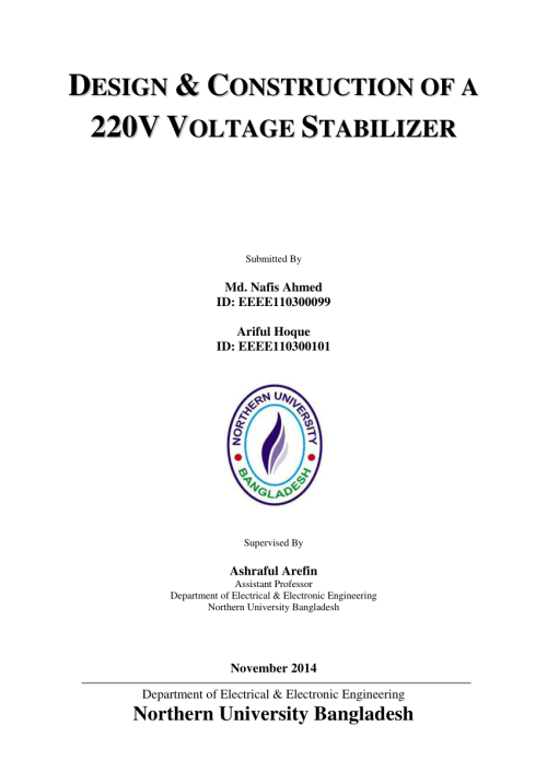 small resolution of  pdf design construction of a 220v voltage stabilizer