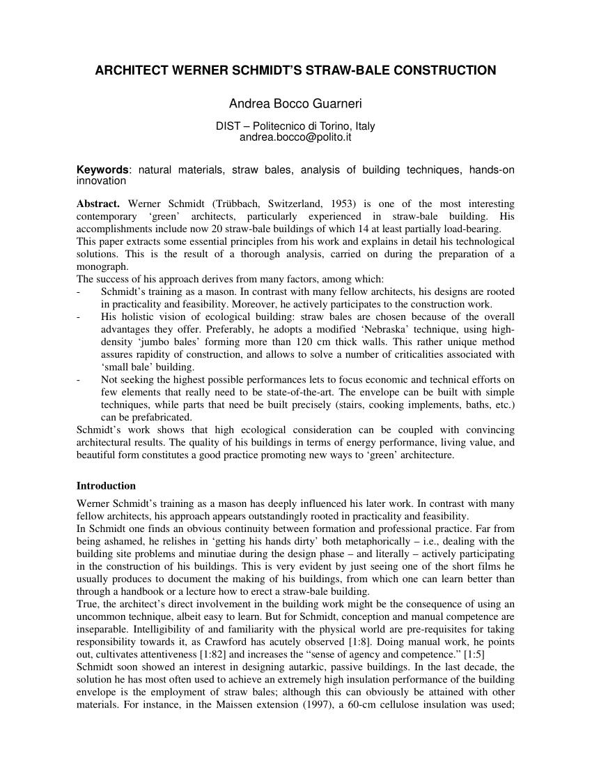 Handbuch Strohballenbau Grundlagen Konstruktionen Beispiele Download