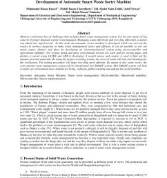 pdf development of automatic smart waste sorter machine [ 850 x 1202 Pixel ]