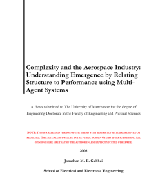 pdf complexity and the aerospace industry understanding emergence by relating structure to performance using multi agent systems [ 850 x 1203 Pixel ]