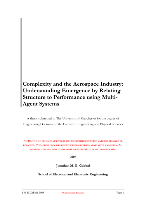 small resolution of  pdf complexity and the aerospace industry understanding emergence by relating structure to performance using multi agent systems
