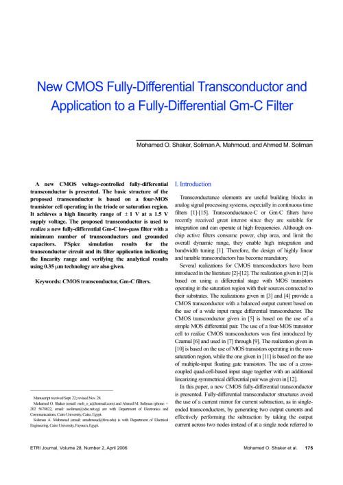 small resolution of pdf a novel cmos ota based on body driven mosfets and its singlesupply differential amplifiers circuit diagram tradeofic