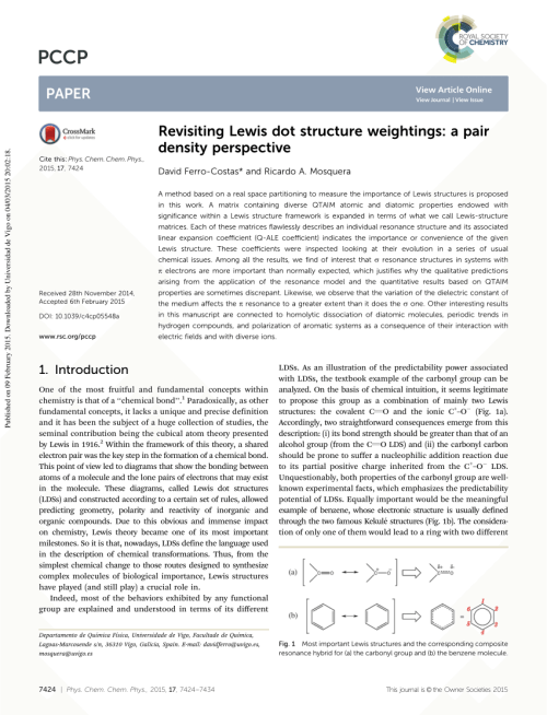 small resolution of  pdf revisiting lewis dot structures weightings a pair density perspective
