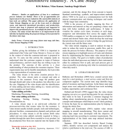 pdf an application of value stream mapping in automotive industry a case study [ 850 x 1203 Pixel ]