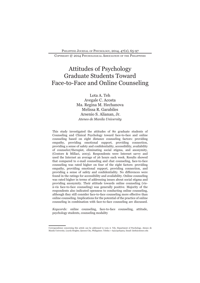 (PDF) Attitudes of Psychology Graduate Students towards