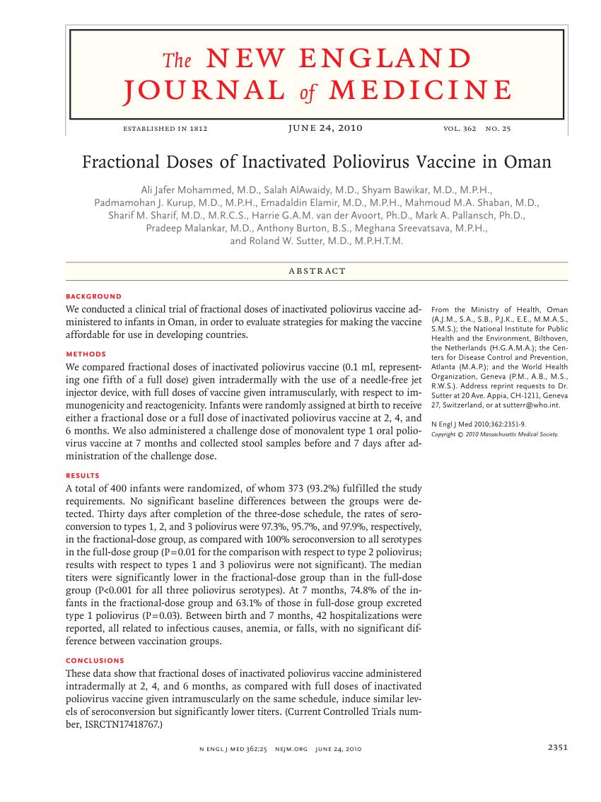 (PDF) The New England Journal of Medicine. Vol.362 No.35. June 24. 2010.