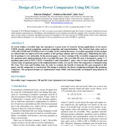 pdf design of efficient reversible binary comparator [ 850 x 1153 Pixel ]