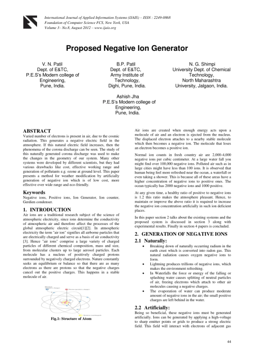 small resolution of  pdf proposed negative ion generator