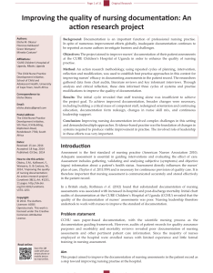 Pdf improving the quality of nursing documentation an action research project also rh researchgate