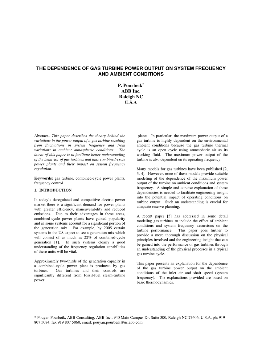 medium resolution of  pdf the dependence of gas turbine power output on system frequency and ambient conditions