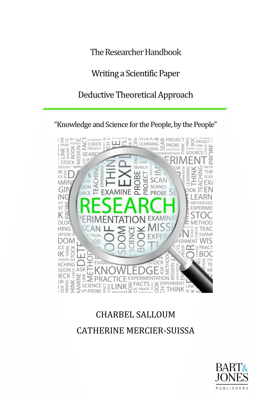 (PDF) The researcher handbook: Writing a scientific paper