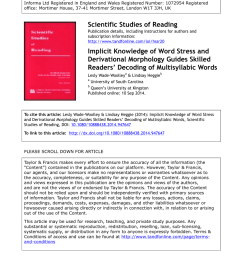 PDF) Implicit Knowledge of Word Stress and Derivational Morphology Guides  Skilled Readers' Decoding of Multisyllabic Words [ 1100 x 850 Pixel ]