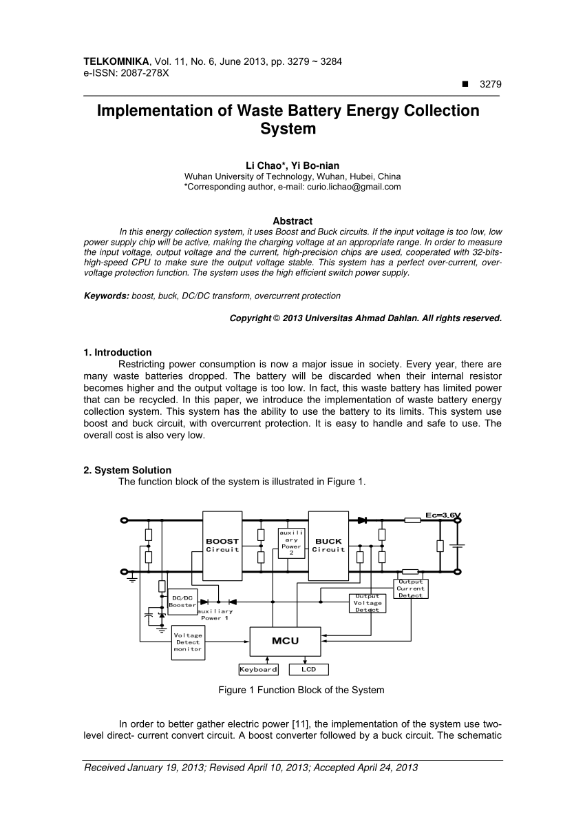 hight resolution of  pdf implementation of waste battery energy collection system