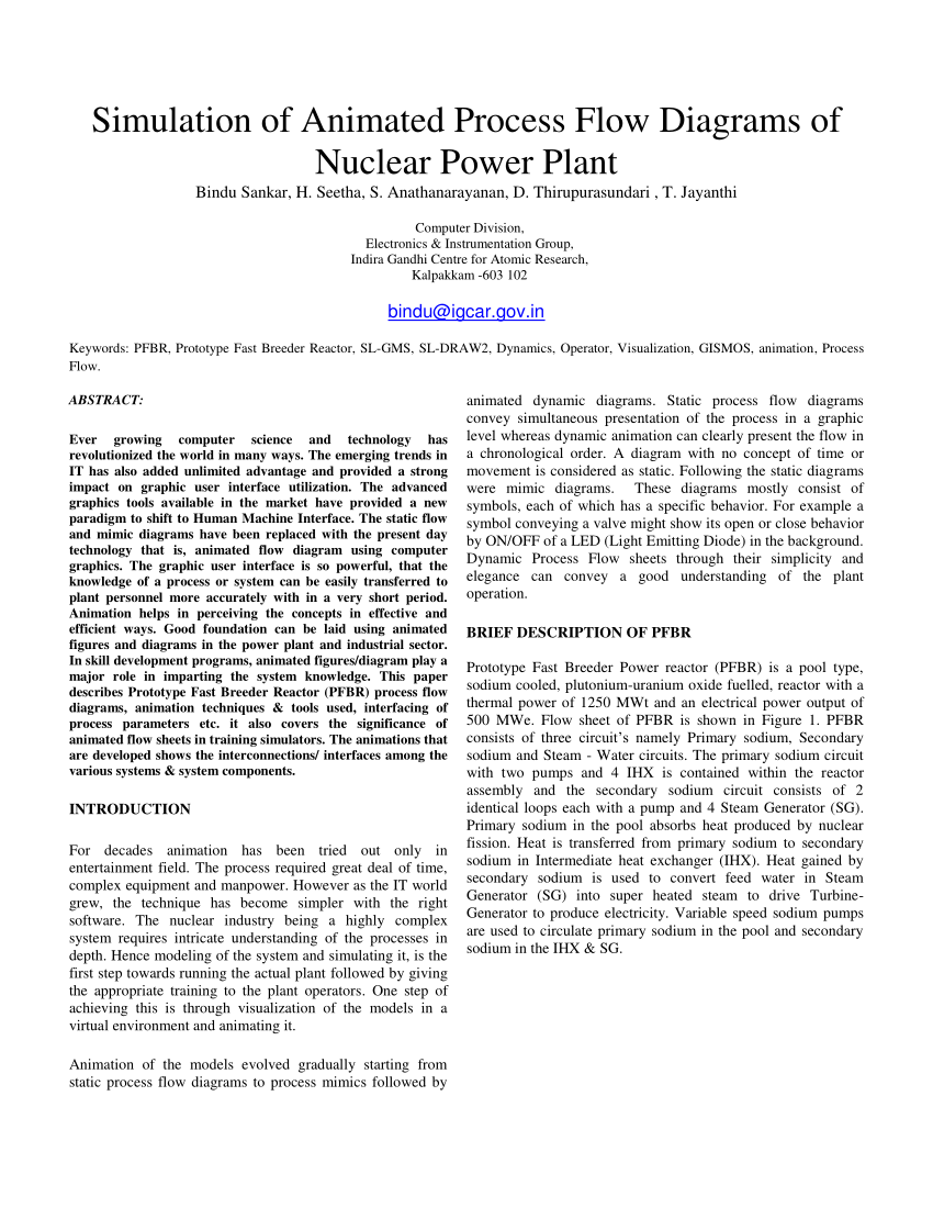 hight resolution of  pdf simulation of animated process flow diagrams of nuclear power plant