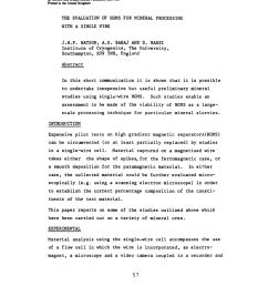 pdf the evaluation of hgms for mineral processing with a single wire [ 850 x 1190 Pixel ]