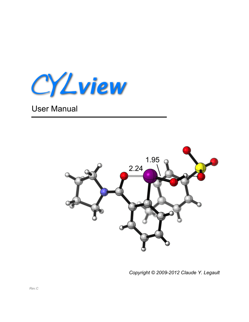 (PDF) CYLview User Manual