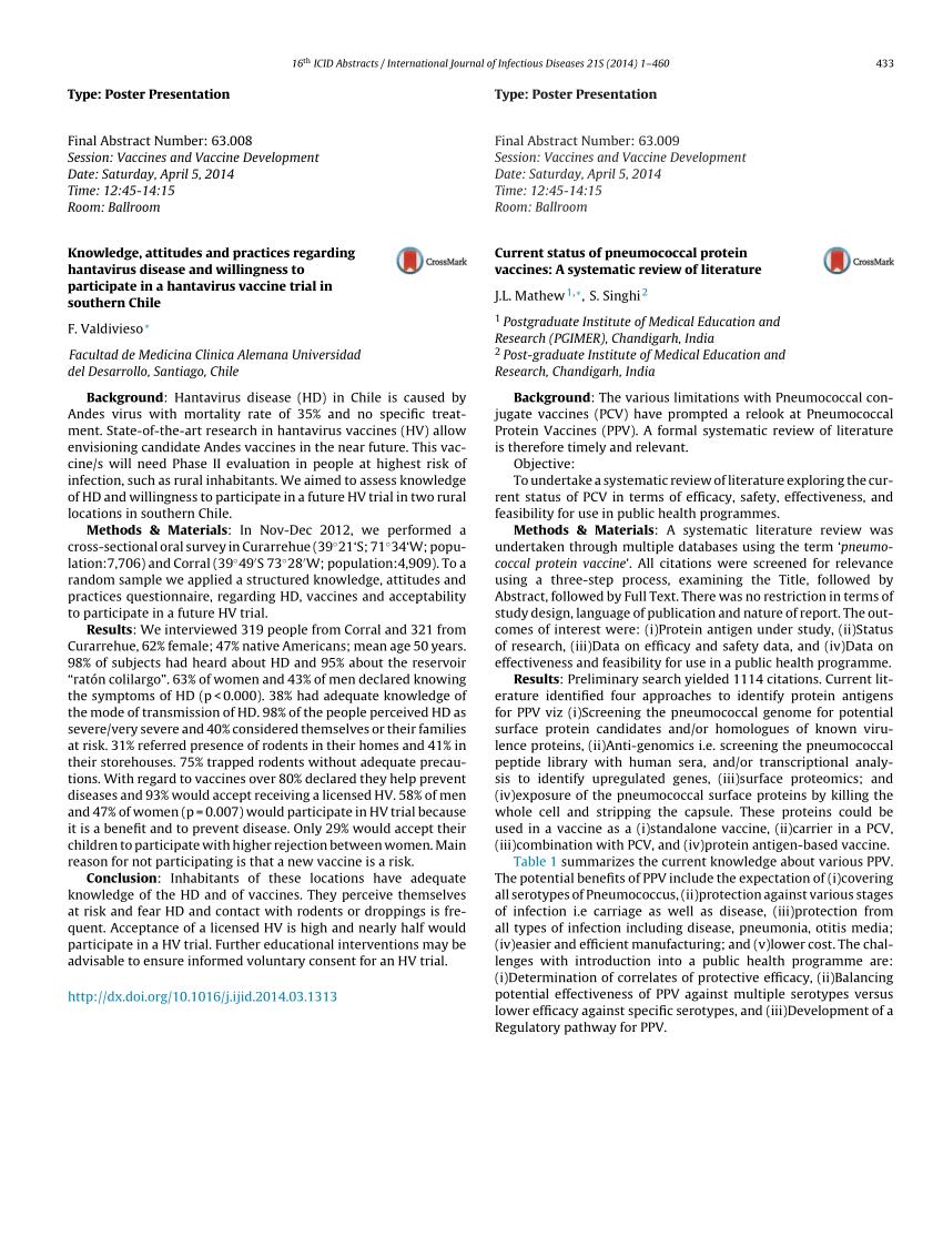 PDF) Knowledge, attitudes and practices regarding hantavirus ...