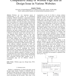 pdf comparative study of website page size as design issue in various websites [ 850 x 1202 Pixel ]